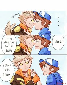 Crossover Gravity Falls / Pokemon Go Dipper And Spark Who is Bill part 4/5