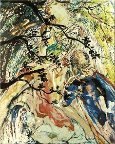"""Salvador Dali. Lancelot and Guinevere. """"Les amoureux suite"""" / surrealism with precision"""