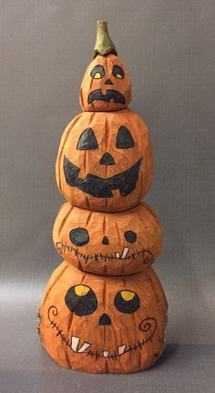 Image Result For Wooden Hand Carved Jack O Lantern Halloween Wood Crafts Halloween Clay Carving