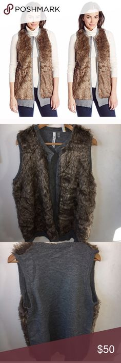 NY Collection Faux Fur grey Sweater Vest  Size XL NY Collection Faux Fur grey Sweater Vest Jacket  Size XL 🎈 New with tags 🌟 No Trades 🌟 Retail $78 NY Collection Jackets & Coats Vests