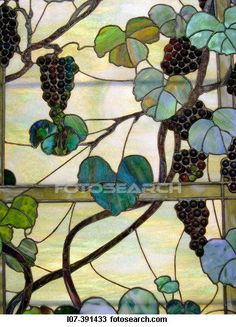 Stock Photo of Detail of Tiffany stained glass Metropolitan Museum of Art New York City USA L07-391433 - Search Stock Images, Poster Photographs, Pictures, and Clip Art Photos - L07-391433.jpg