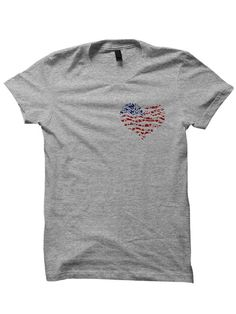 July 4th T-shirt American Heart Shirt USA 4th of July by StyleWars