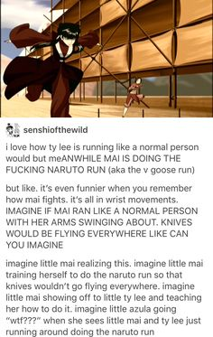 I say she saw her UNCLE NARUTO doing this and he taught her that it would help with the knife throwing so she learned to do it that way