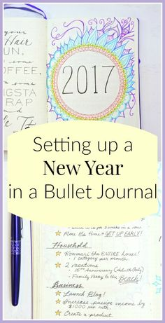 Setting up for 2017! A Bullet Journal is the perfect way to get ready for a new year. Check out my setup @ sheenaofthejournal.com!
