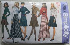 Simplicity Vintage Sewing pattern no. 5196 sizes 12 ladies skirt & shirt