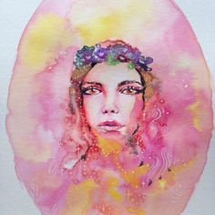 Studio Sale // Watercolor painting // Illustration Flowercrown