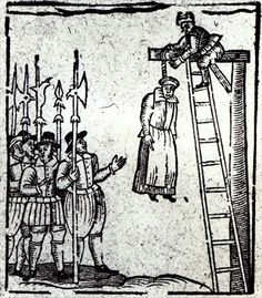 Public Hanging of a Woman (woodcut)  English School, (17th century)