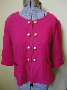 Adorable Anthro Boho Ann Taylor Loft Boiled Wool Hot Pink Blazer Jacket M $21.99  http://cgi.ebay.com/ws/eBayISAPI.dll?ViewItem=290786795634=STRK:MESE:IT