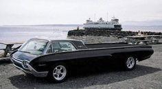 Early 6Os Thunderbird customized into a chopped Ranchero / very cool