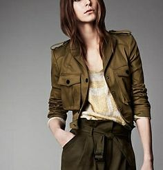 Cropped Jacket by Burberry