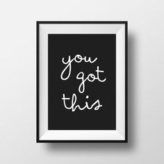 You Got This Art Print Digital Download by CheerLoveCo on Etsy