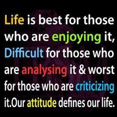 Attitude Defines Fortitude