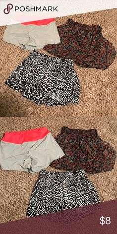 Short/skirt Bundle - Make offer!! Skirt is xs - shorts are size small - all like new!! Fun ! Awesome! Wet Seal Shorts