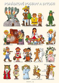 Postavy z rozprávok Montessori, Fairy Tales, Decoupage, Diy And Crafts, Preschool, Language, Activities, Education, Comics