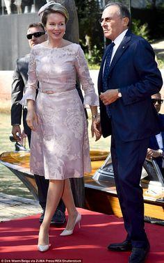 Queen Mathilde visited The 57. International Art Biennale in Venice Sept. 8, 2017