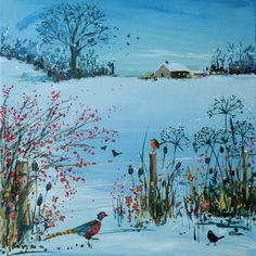 Cotswold winter scene