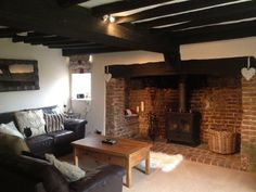 Inglenook Fireplace Britton Farm Cottage Canterbury Kent
