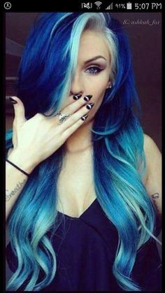 Are you looking for dark blue hair color for ombre and teal? See our collection full of dark blue hair color for ombre and teal and get inspired! Dye My Hair, New Hair, Love Hair, Gorgeous Hair, Amazing Hair, Cool Hair Color, Edgy Hair Colors, Wash Out Hair Color, Extreme Hair Colors