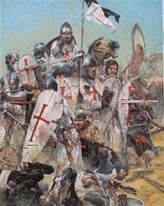 The Fall Of Jerusalem in 1099 is just one of the many terrible yet unforgettable scenes from the Crusades - which lasted centuries. Medieval Knight, Medieval Armor, Military Art, Military History, History Guy, Fall Of Jerusalem, Crusader Knight, Christian Warrior, High Middle Ages