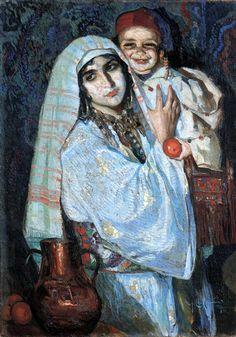 José Cruz Herrera (1890 – 1972, Spanish)..Mama Arabe