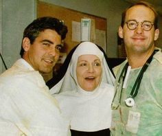 Gosh! A funny moment from the E.R. set (1994) with George Clooney and Anthony Edwards.