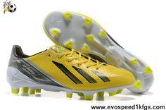 half off 3bd53 91fd1 Adidas F50 adizero TRX FG TPU Yellow Black Grey Black Football Boots, Cheap  Football Boots