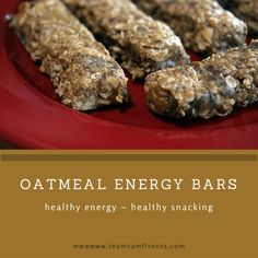 Oatmeal energy bars are perfect before or after a workout or for anytime healthy snacking.