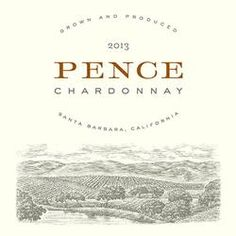 New 2013 Estate Chardonnay label showing Santa Barbara wine country.