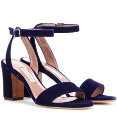Tabitha Simmons Leticia Velvet Sandals (37.680 RUB) ❤ liked on Polyvore featuring shoes, sandals, heels, tabitha simmons, blue, blue velvet shoes, blue heel sandals, velvet shoes and blue heeled shoes