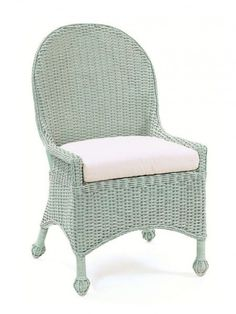Cottage Wicker Furniture, Outer Banks Wicker Dining Chair Paint Wicker Chair  This Color!