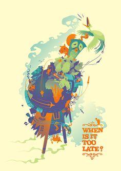 Global Warming T-shirt and Poster Design - WhatWeDo Copenhagen