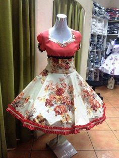 Resultado de imagen para venta de vestidos de huasa Unique Dresses, Beautiful Dresses, Dance Outfits, Cute Outfits, Clogs Outfit, Lolita Dress, Fashion Outfits, Womens Fashion, Floral Embroidery