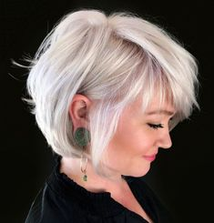 100 Mind-Blowing Short Hairstyles for Fine Hair - Crisp Wispy Bob - Haircuts For Thin Fine Hair, Bob Hairstyles For Fine Hair, Fine Hair Bobs, Short Haircuts, Hairstyle Men, Formal Hairstyles, Wedding Hairstyles, Layered Haircuts, Bob Hairstyles With Fringe Over 50