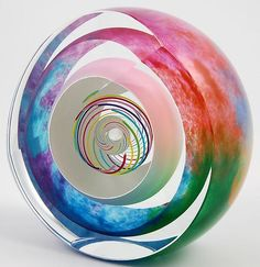 Candy Multi Paperweight: Paul D. Harrie: Art Glass Paperweight - Artful Home