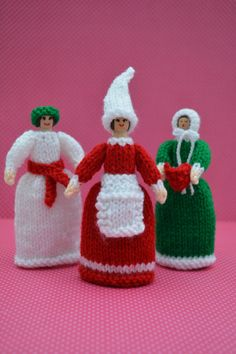 Christmas Doll Knitting Pattern/ Knitted by EdithGraceDesigns