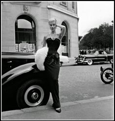 Stella is wearing the most popular evening dress from Jacques Fath's collection, photo by Willy Maywald, Paris, 1951