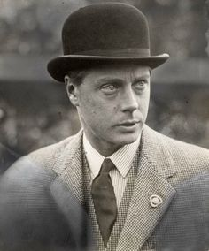 Edward, Prince of Wales, around the time he became acquainted with Mrs. Wallis Simpson. 1930.