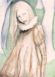 Dress is from Alexander Mcqueen Fall 2006