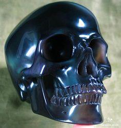 Rainbow Obsidian Crystal Skull