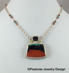 Southwestern Sterling Silver Sonoran Sunset Necklace by PeatrossJewelry on Etsy