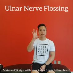 This is a nerve flossing exercise for the ulnar nerve. Used for recovering from a cervical disc herniation, thoracic outlet syndrome, brachial plexopathy, or pinky and ring finger numbness/tingling. Check out the link for more content! Ulnar Nerve Exercises, Neck Exercises, Back And Shoulder Workout, Shoulder Rehab, Do Exercise, Excercise, Senior Fitness, Fitness Tips, Yoga Poses For Sciatica