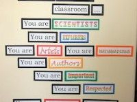 Elementary and Middle School Inspirational Back To School Bulletin Board Idea