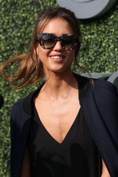Jessica Alba Jessica Alba, Sunglasses Women, Nyc, Style, Fashion, Swag, Moda, Fashion Styles, Fashion Illustrations