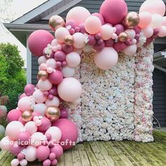 21st Birthday Decorations, Balloon Decorations Party, Diy Wedding Decorations, Baby Shower Decorations, Wedding Favors, Party Wedding, Baloon Decor, Party Ballons, Baby Shower Garland