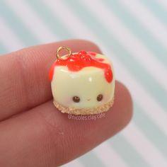 #kawaii #charms #polymer #clay #cheesecake #charm