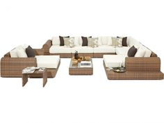 Milano Sofa Set - pricey but how amazing would it look on decking