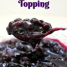 Easy Blueberry Topping ~ Hey all you blueberry lovers, this recipe is for you! This delicious easy blueberry topping is great to top cheesecakes, pancakes waffles. Spread it on english muffins, bagels. Blueberry Topping For Cheesecake, Cheesecake Toppings, Blueberry Sauce, Blueberry Recipes, Cheesecake Recipes, Fruit Soup, Lemon Dessert Recipes, Lemon Recipes, Yummy Recipes