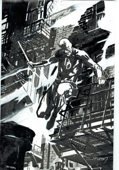 Daredevil by John Paul Leon Comic Art