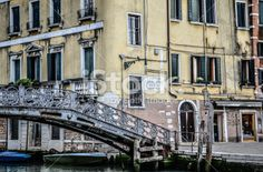 Wrought Iron bridge in Venice, Italy