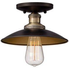 "Industrial Atom 8"" Wide Edison Bronze Ceiling Light - #X8813 | www.lampsplus.com"